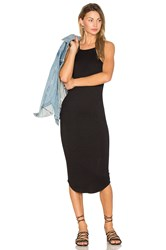 Lna Square Bib Dress Black