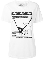 Enfants Riches Deprimes Printed T Shirt Women Cotton M White