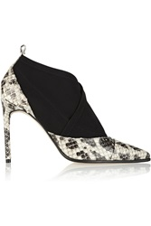Reed Krakoff Anaconda And Neoprene Ankle Boots