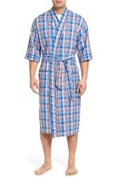 Majestic International Men's Sunshine Robe Royal Plaid