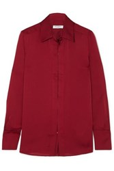 Equipment Rene Satin Shirt Red