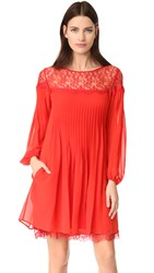 The Kooples Lace Dress Red