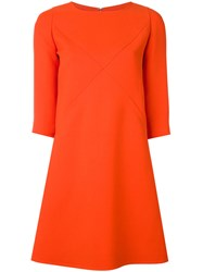 Courreges Cut Out Dress Women Silk Polyester Wool 36 Red
