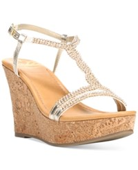 Fergalicious Kara Platform Wedge Sandals Women's Shoes