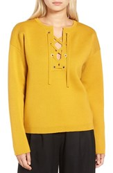 J.Crew Women's Collection Bonded Lace Up Sweater