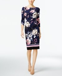 Inc International Concepts Petite Floral Print Sheath Dress Only At Macy's Spring Breeze