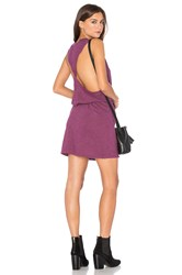 Lanston Twist Back Racerback Dress Purple