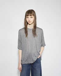 Alexander Wang Drop Shoulder Tee Grey