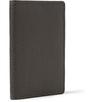 A.P.C. Textured Leather Billfold Wallet Gray