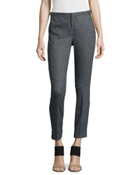 Atm Anthony Thomas Melillo Atm Adjustable Pinstripe Cropped Dress Pants Women's