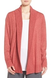 Eileen Fisher Women's Shawl Collar Tencel Blend Cardigan Persimmon