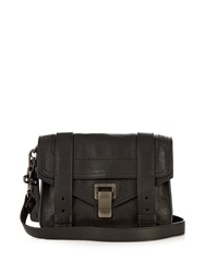 Proenza Schouler Ps1 Mini Leather Cross Body Bag Black