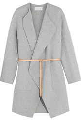 Vanessa Bruno Dugny Oversized Belted Wool And Cashmere Blend Coat Gray