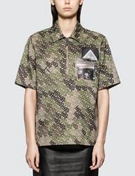 Burberry Monogram Short Sleeve Zip Shirt