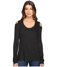 Lanston Cold Shoulder Top Black Women's Clothing