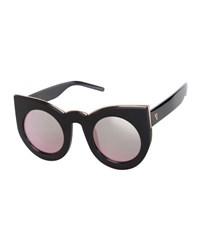 Valley Eyewear Wolves Mirrored Cat Eye Sunglasses Black Rose Black Rose Gold
