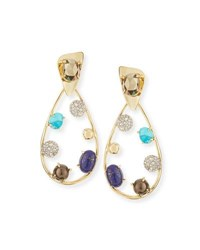 Alexis Bittar Crystal Teardrop Earrings Multi