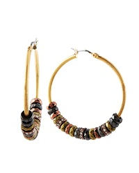 Lydell Nyc Golden Hoop Earrings W Rondelles