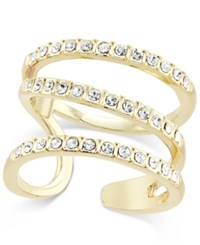 Inc International Concepts Gold Tone Triple Band Pave Statement Ring Only At Macy's