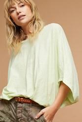 Anthropologie Dolman Banded Top Green
