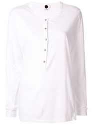 Bassike Slim Fit Longline Jersey Top White