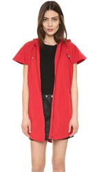 Ohne Titel Cape Trench Coat Red