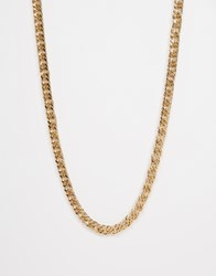 Asos Longline Heavy Chain Necklace In Gold