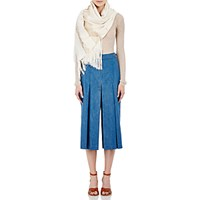 Gabriela Hearst Women's Embroidered Fine Tulle Scarf Ivory