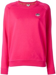 Kenzo Mini Tiger Sweatshirt Pink Purple