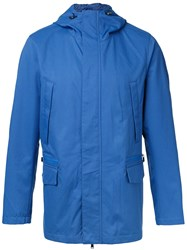 Kent And Curwen Hooded Anorak Jacket Blue