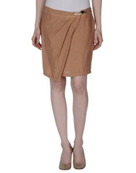 Armani Jeans Mini Skirts Camel