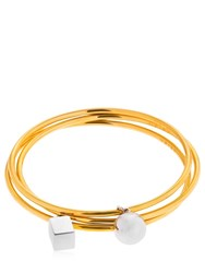 Uribe Sylvia Set Of 3 Bracelets Gold Silver