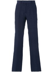 Ermanno Scervino Cropped Tailored Trousers Blue