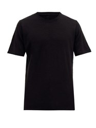 120 Lino Crew Neck Linen T Shirt Black