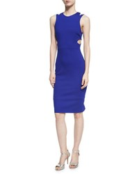 French Connection Whisper Lula Cutout Dress Blue