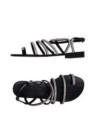 Bibi Lou Toe Strap Sandals Black