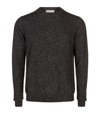 Sandro Drag Marl Jumper Male Grey