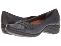Hush Puppies Burlesque Navy Leather Women's Slip On Shoes Blue