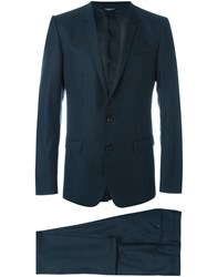 Dolce And Gabbana Formal Suit Blue
