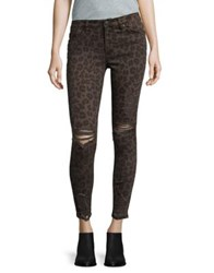 Design Lab Lord And Taylor Distressed Skinny Jeans Black Check
