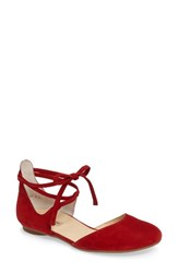 Paul Green Women's Lydia Flat Red Suede