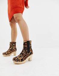 Free People West Johanna Clog Brown Combo Multi