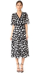 Yigal Azrouel Fit And Flare Dress Jet Optic