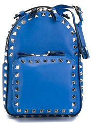 Valentino Garavani Mini 'Rockstud' Backpack Blue