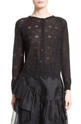 Simone Rocha Women's Pointelle Button Cardigan