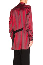 Ann Demeulemeester Fwrd Exclusive Shirt In Gray Red Stripes Gray Red Stripes