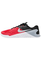 Nike Performance Metcon 3 Sports Shoes University Red Wolf Grey Black White Bright Crimson