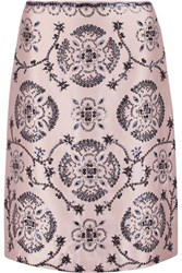 Tory Burch Embellished Silk Gazar Skirt Blush