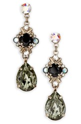 Sorrelli Shielded Crystal Drop Earrings Black