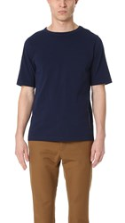 Marni Tee With Knitted Detail Blue Navy Black